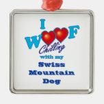 I Woof Swiss Mountain Dog Christmas Ornament