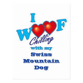 I Woof Swiss Mountain Dog Postcard