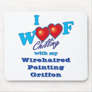 I Woof Wirehaired Pointing Griffon Mouse Pad