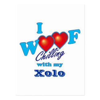 I Woof Xolo Postcard
