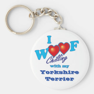 I Woof Yorkshire Terrier Keychain