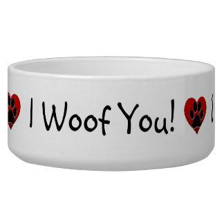 I woof you bowl