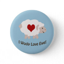 I Wooly Love You! Button