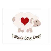 I Wooly Love You! Postcard