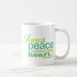 """<i>Word® diario</i> Taza de la """"paz"""""""
