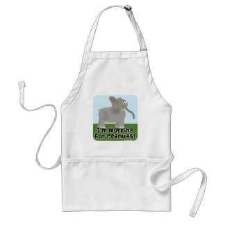 I Work for Peanuts! Adult Apron