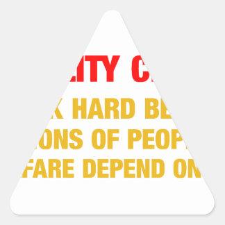 I work hard because millions on welfare depend on triangle sticker