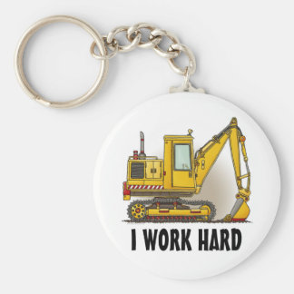 I Work Hard Digger Shovel Key Chain