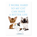 I Work Hard Postcard