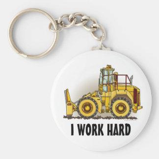 I Work Hard Soil Compactor Key Chain