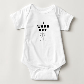 - I work out Baby Bodysuit