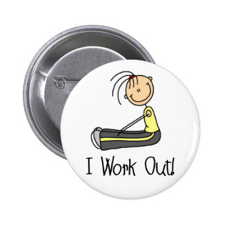 I Work Out Button