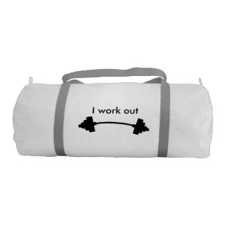 I work out Gym Bag