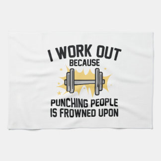 I Work Out Hand Towel