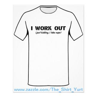 I Work Out (Just Kidding I Take Naps) Full Color Flyer