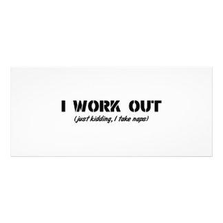 I Work Out (Just Kidding I Take Naps) Custom Rack Cards