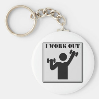 I Work Out Keychain
