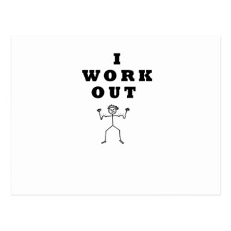 - I work out Postcard