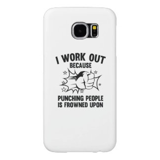 I Work Out Samsung Galaxy S6 Case