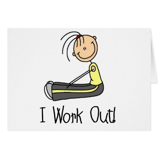 I Work Out Tshirts and Gifts Greeting Card