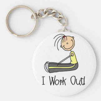 I Work Out Tshirts and Gifts Keychain