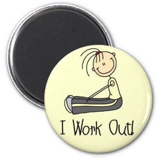 I Work Out Tshirts and Gifts 2 Inch Round Magnet