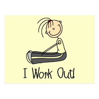 I Work Out Tshirts and Gifts Postcard