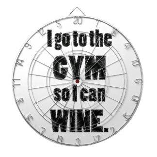 I Workout so I can wine - whine black Dartboard