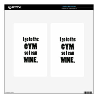 I Workout so I can wine - whine black Decal For Kindle Fire