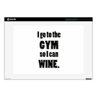 I Workout so I can wine - whine black Decals For Laptops