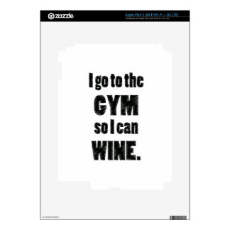 I Workout so I can wine - whine black Skin For iPad 3