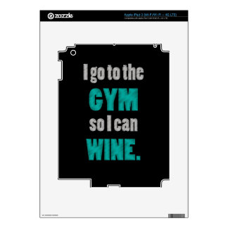 I workout so I can wine - whine iPad 3 Decal