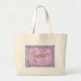 I would always rather be happy than dignified canvas bag