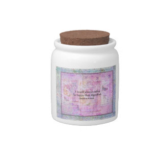 I would always rather be happy than dignified candy jar