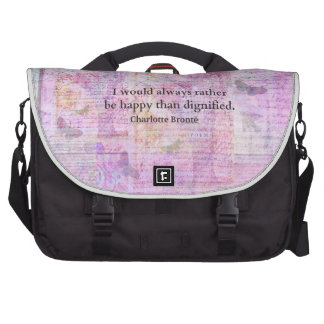 I would always rather be happy than dignified laptop computer bag