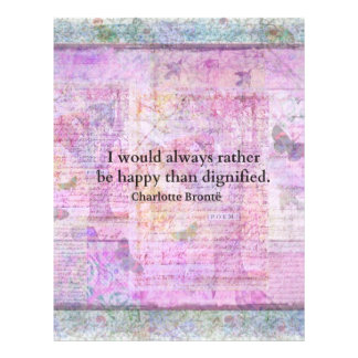 I would always rather be happy than dignified letterhead