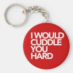 I Would Cuddle You Hard Basic Round Button Keychain
