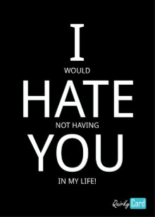 I Hate You Cards Zazzle