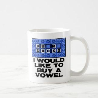 I would like to buy a vowel - Obama Sucks Coffee Mug
