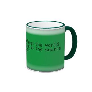 I would love to change the world.... ringer mug