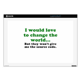 I Would Love to Change the World Laptop Decal