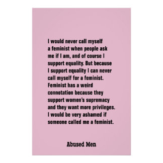 I Would Never Call Myself A Feminist … Poster