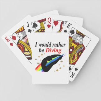 I WOULD RATHER BE DIVING DIVER GIRL DESIGN CARD DECKS