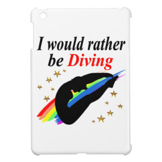 I WOULD RATHER BE DIVING DIVER GIRL DESIGN iPad MINI CASE