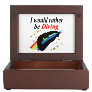I WOULD RATHER BE DIVING DIVER GIRL DESIGN MEMORY BOX