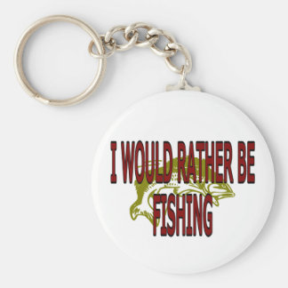 I WOULD RATHER BE FISHING BASIC ROUND BUTTON KEYCHAIN