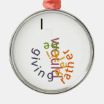I would rather be giving Reiki Christmas Ornament