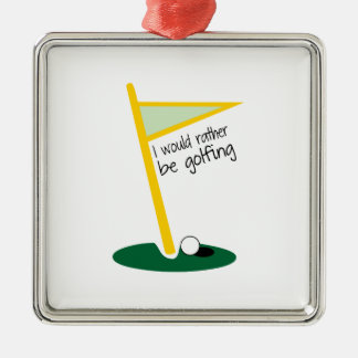 I Would Rather Be Golfing Christmas Tree Ornament