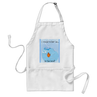 I would rather be..., in the lake! adult apron