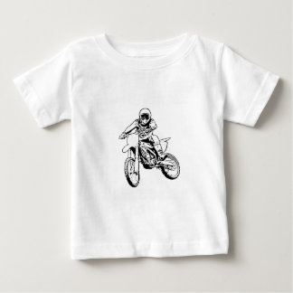 I Would Rather Be Playing In The Dirt (Black/White Baby T-Shirt